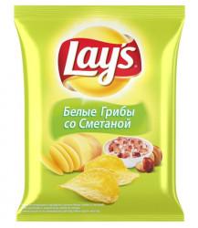 """Чипсы """"Lays"""" Белые грибы со сметаной (шт. 133 г)"""