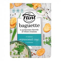 Сухарики со вкусом зелени в сливочном соусе FLINT BAGUETTE (шт. 110 г)