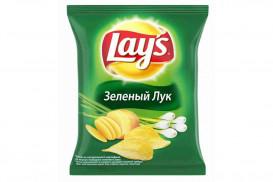 """Чипсы """"Lays"""" зелёный лук (шт. 133 г)"""